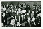 Hopkins Boy Scouts:  row 1 center: Bob Stohl, Don Larson.  row 2: Randy Hood, Bob Boysen