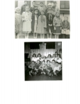 Bob Stohl's parties:  TOP PHOTO:  front row, left:  Sue Hallberg, Robin Sheldon, Margaret Turngren, Karen Stenback,